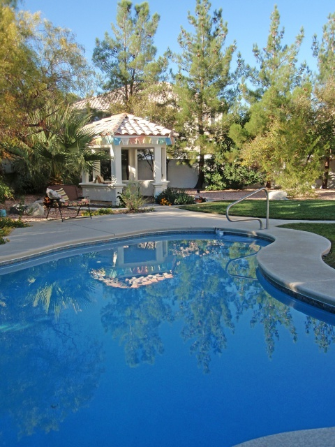 Las Vegas NW home for sale - large fenced backyard with pool and spa