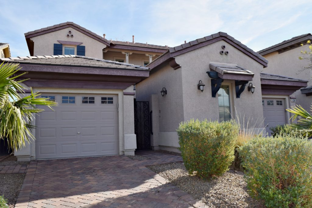 North Las Vegas gated community - casita and paved driveway